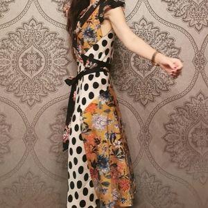 Zara mixed patchwork print dress